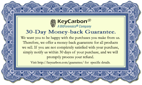 KeyCarbon money back guarantee