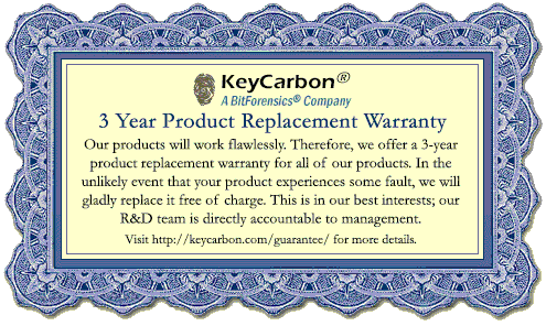 keycarbon product replacement warranty