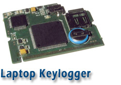 Laptop keystroke recorder or logger